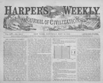 Top half of front page, Harper's Weekly, May 14, 1870
